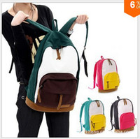 Wholesale school bags for teenagers Korean version Fashion college Canvas Backpack travel Shoulder Bag drop shipping