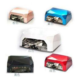 Wholesale 10pcs color Nail Art UV LED Lamp Gel Curing Tube Light Nail Dryer Lamp Tubes W V V
