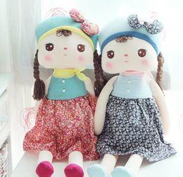 Infant Toys Baby 40cm Angela Plush toys Metoo Stuffed Animals Dress Girls Doll Plush Toys 3pcs lot TS241