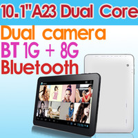 Wholesale Dual Core Bluetooth inch Android A23 Tablet PC GB GB Ghz Wifi Dual camera Capacitive screen Skype Youtube Google Store