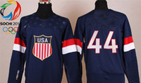 Cheap Wholsale Team USA Ice Hockey Jerseys Orpik #44 Blue for 2014 Sochi Winter Olympics Size 48-56