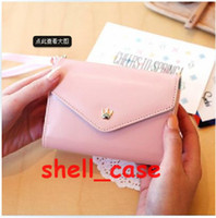 Wholesale Korean Cute PU Leather Cases Envelope Wallet Case Crown holster bag For iPhone S G S Samsung Galaxy S3 i9300 S4 i9500 Note Free DHL