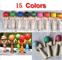 Wholesale Freeshipping Colors Available CM Kendama Toy Japanese Traditional Wood ball Game Toy Education Gifts
