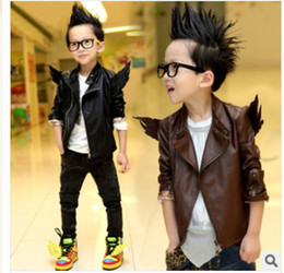 Wholesale boys jackets leather clothings cool designed coats kids outwear new arrival WWW64333