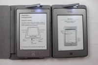Wholesale LED leather cover For Amazon kindle kindle leather case with built in light