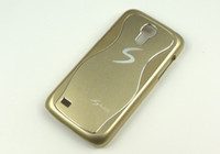 Wholesale Samsung galaxy S4Mini I9190 case metal S Logo rugged case Bumper case cell phone back cover