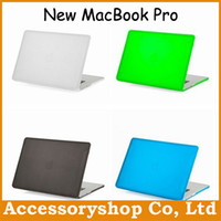 Wholesale For MacBook Pro Retina Thin Colorful Fosted Matte Hard PC Case Newest Snap On Cover Absolute Top Quality Free DHL Shipping