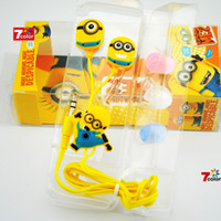 apple computer packaging - Hot D Cartoon Despicable Me Headphone Minions M2 earphone Headset with retail package for iphone S S Samsung galaxy S3 S4 PC Computer