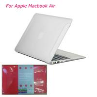 Wholesale For Apple Macbook Air quot amp quot Folio Flip Frosted Polycarbonate Hard PC Fiber Case Laptop Protector Macbook Cover DHL