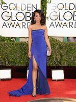 Wholesale Sexy st Golden Globe Awards Shaun Robinson Sheath Strapless Side Slit Royal Blue Chiffon Celebrity Evening Red Carpet Dresses Cheap