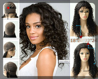 Wholesale UPS Free Rani Real Images B off Black quot quot quot quot Water Wave Brazilian Human Hair Full Lace Wigs Brown Lace Hand Tied IA19