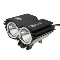 Wholesale Promotion BLACK SolarStorm X2 Bike Light CREE XM L U2 Modes LED LM Dual Head Bicycle light bicycle front light