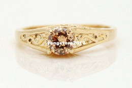 Wholesale Gorgeous k Solid Yellow Gold mm Citrine Ring SZ7 P87 Gold Ring gold wedding