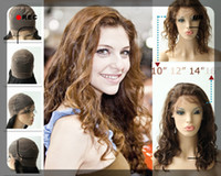 Wholesale UPS Free Rani Real Images Brazilian Human Hair Full Lace Wigs Brown Lace Dark Brown quot quot quot quot Deep Wave Hand Tied IA50