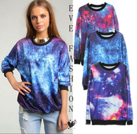 Wholesale 2013 Autumn New Tie dye Galaxy Print Sweatshirt Pullover Hoodies