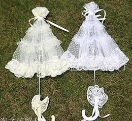Wholesale Lace Parasol Sun Umbrella Ribbon in Ivory White Parasol Umbrella Wedding Bridal