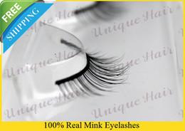 Wholesale RMZ006 real mink eyelash great siberian mink fur eyelash extension thick fake eyelashes