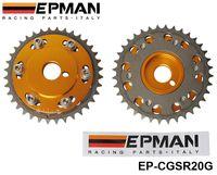 Wholesale EPMAN Blox Aluminum Racing Adjustable Vernier Cam Gears Pulleys for Nissian engine SR20DET Golden Have in stock EP CGSR20G
