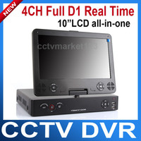 "1 - 4 TB SD-1004L NTSC/PAL 10""LCD all-in-one 4ch audio Standalone H.264 Full D1 4CH Network Video Recorder DVR Support iPhone Blackberry Android view"