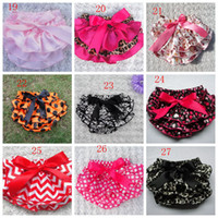 Wholesale Baby girl Briefs underwear TUTU PP pants bloomers Ruffles loveheart polka dots leopard pp pants girls toddler underwear diaper covers