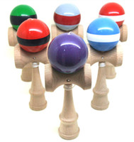 Wholesale Freeshipping Professional Kendama Ball Japanese Traditional Wood Game Kids Toy PU Paint amp Beech Good Quality