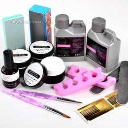 Wholesale Nail Art Crystal Acrylic Powder Liquid Kit Buffing Brush Pen Full Set NA821