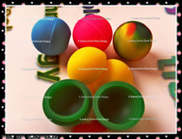 Earring ball spice jars - Colorful Silicone Ball Swirly Small Jars Container Spice Shreds Makeup Beads Herbs Jewelry Earrings