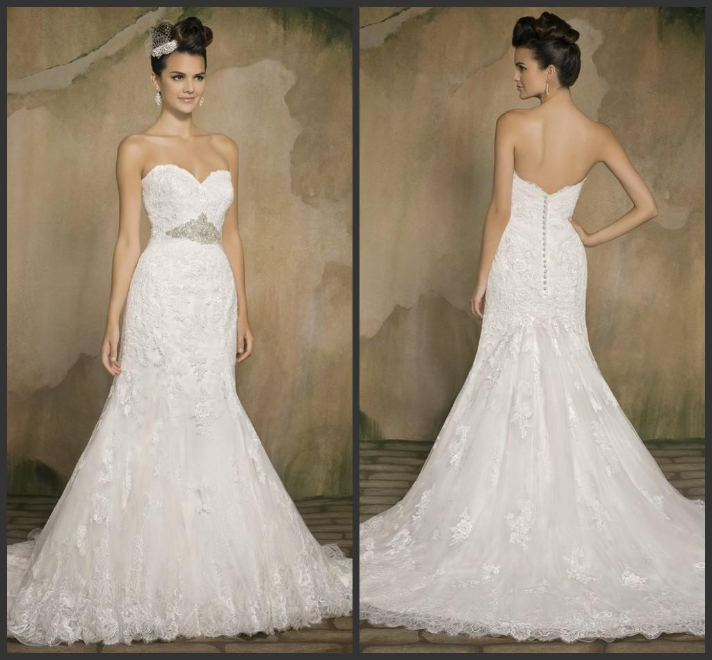 Discount Lk High Quanlity Glamorous 2014 New Lace Wedding