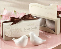 Wholesale 100pairs newest wedding favors love bird salt pepper shaker ceramic wedding gift for guests