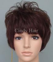 El nuevo negro brasileño de mirada natural del pelo de la Virgen de la peluca 100% de la nueva llegada y el color de Brown del maquillaje de calidad superior hizo estilo de la peluca varios para la venta