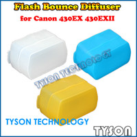 Wholesale 3 Colors Difusor Camera Softbox Flash Bounce Diffuser for Canon Speedlite EX EXII Yongnuo EX Diffusore