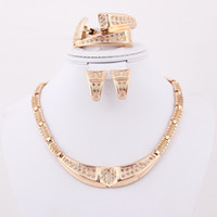 Wholesale 2014 Hot Selling Top Quality Bridal Necklace Jewelry Set African Gold Plated Charming Costume Jewelry Sets