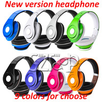 Wholesale New version stereo DJ Headphones Foldable Over Ear Headsets on ear earphone Multicolor with retail box