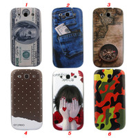 Wholesale DHL Hot Item for Samsung Galaxy S3 I9300 Jeans Camo US Dollar Mix Designer Plastic Battery Housing Case