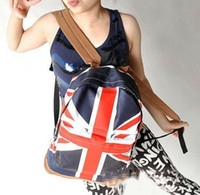 backpack uk sale - hot sale UK USA flag canvas packbag flag bag student bag