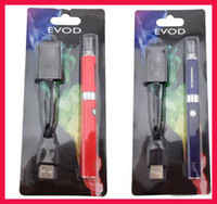 Wholesale 2014 EGO EVOD MT3 eVod Starter Kit ego Blister kits Clearomizer Rechargable eVod Battery mah mah mah DHL Free Mix colors Available