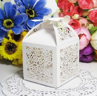 Wholesale Wedding Favor Box Laser Cut Paper Boxes for Candy Small Gift Box Party Supplies Pieces Colors