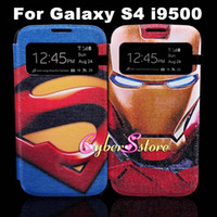 uk flag - For Galaxy S4 UK US Flag SuperMan Iron Man Wallet PU Stand Leather Case Cover For Samsung Galaxy S4 i9500