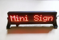 Wholesale Scrolling White LED message display Car message board with dot matrix Rechargeable amp Programmable message