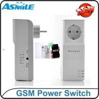 Miniature sockets and switches - EU Plug Style GSM Power Socket Switch With Extended connected Temperature Sensor and Remote controller