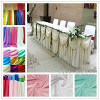 Wholesale Fashion Ice Silk Solid BanquetTable Skirt ft Courtain Factory Supply Fedex