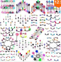 Cheap Body Jewelry 316 UV Barbell Piercing Body Piercing Jewelry 105pcs lot