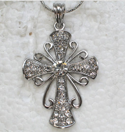 Wholesale Crystal Rhinestone Cross Necklaces & Pendants Chains F167