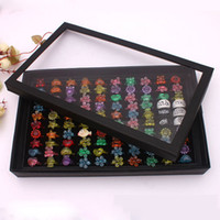 Wholesale Ring Tray Display Jewelry Trays Displays Holder slots Rings Showcase Cheap Jewelry Organizer Case