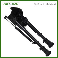 Wholesale 9 quot quot Tactical Harris style Hunting Shooting sticks bipod quick detach folding bipod for airsoft rifle gun