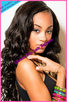 Cheap Fashion Celebrity Natural Wavy cheap front lace wig full lace wig glueless indian remy hair for black women Freeshipping