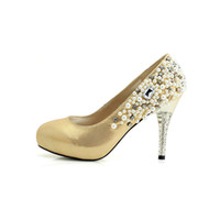 Cheap Gold Heels For Prom | Tsaa Heel