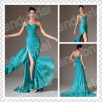 2014 Top Glamorous One- Shoulder Prom Dresses Long Chiffon Ap...