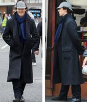 Wholesale Sherlock Holmes Cape Coat Overcoat Cloak Cosplay Costume Luxury Custom made Any size