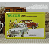 austin mini car - 20 cm Vintage AUSTIN MINI Car Poster Tin Sign Bar Decor Metal Painting Retro Signs